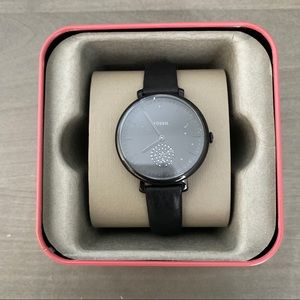 Fossil Women's Jacqueline Black Leather Watch 35mm